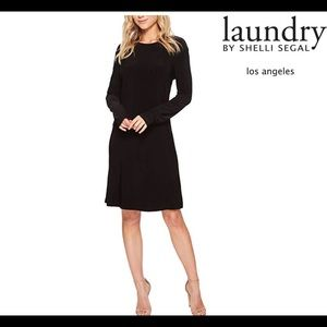 Laundry by Shelli Segal Black a-line Dress